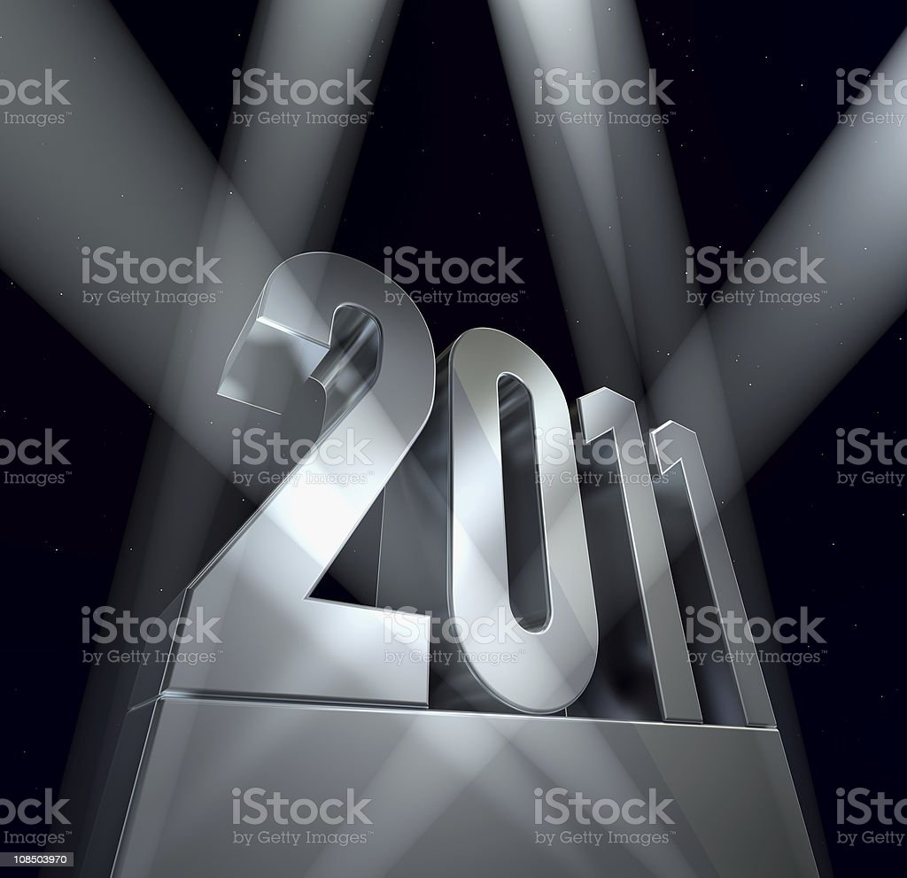 Year 2011 royalty-free stock photo