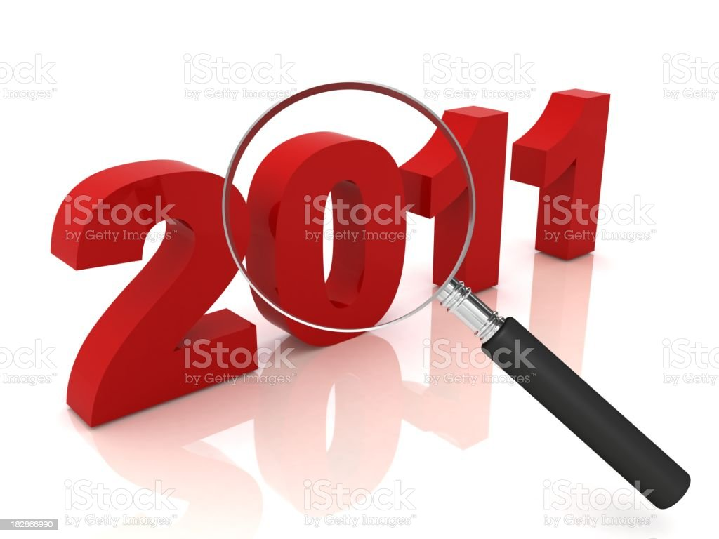 Year 2011 Review royalty-free stock photo