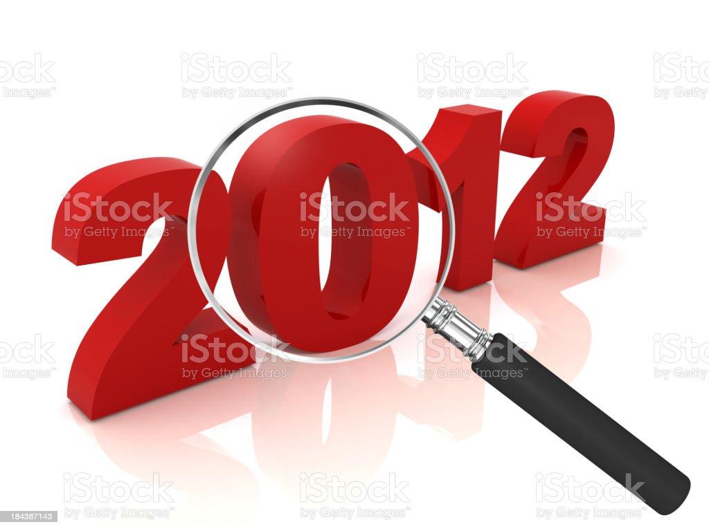 Year 2012 Analysis stock photo