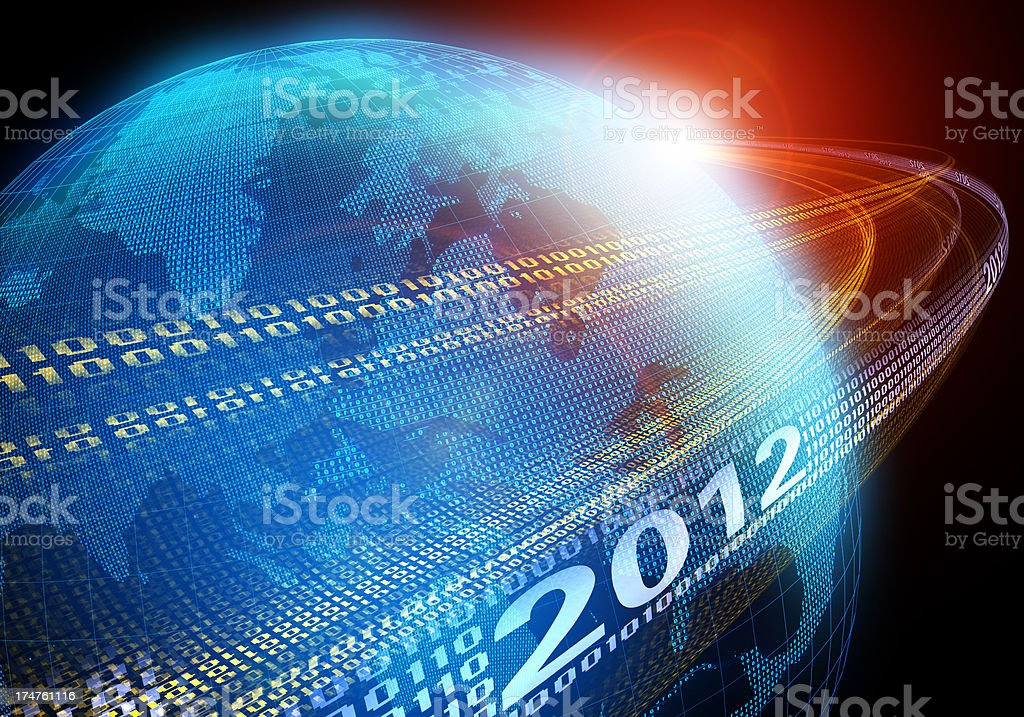 Year 2012 Growth stock photo