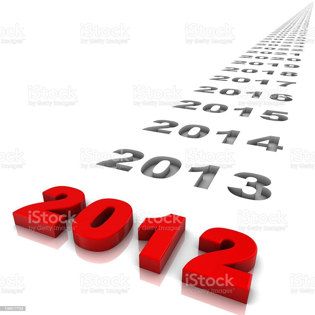 Year 2012 stock photo