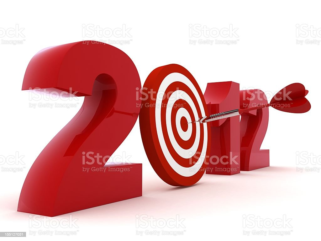 Year 2012 Target royalty-free stock photo