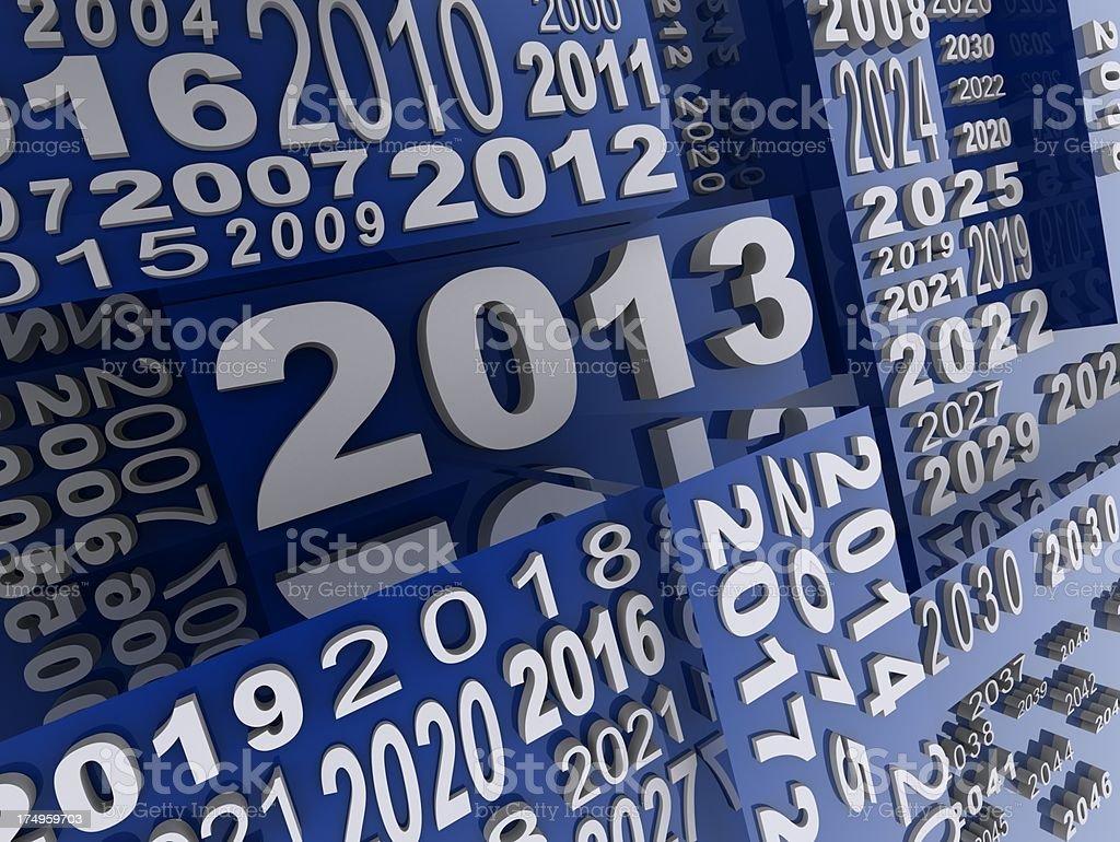 Year 2013 royalty-free stock photo
