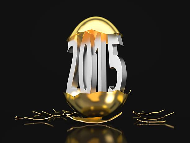 Jahr 2015 hatches Sie ein goldenes Ei – Foto