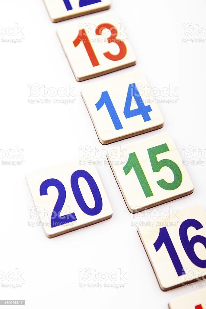 year 2015 royalty-free stock photo