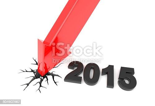 istock Year 2015 red 3D arrow crash 504902562