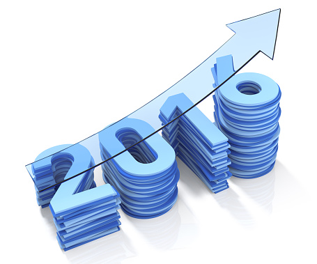 465048456 istock photo Year 2016 Growth Bar Chat. Blue Transparent Arrow 485595716