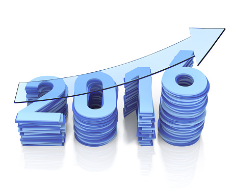 465048456 istock photo Year 2016 Growth Bar Chat. Blue Transparent Arrow 485595720