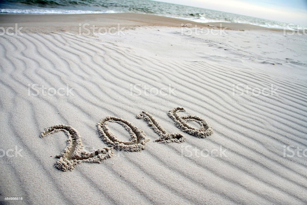 Year 2016 stock photo