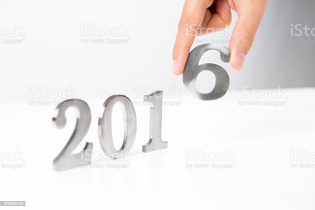 Year 2016 stock photo