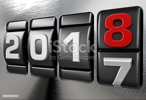 istock Year 2017 counter changing to new year 2018 696566032