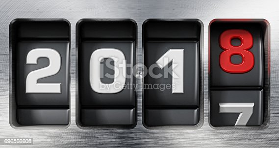 istock Year 2017 counter changing to new year 2018 696566608