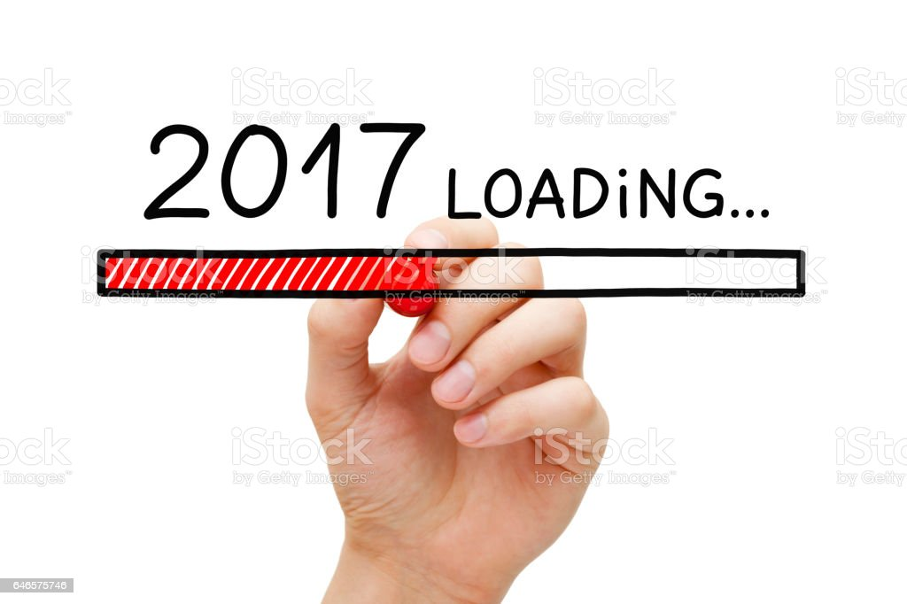 Year 2017 Loading Concept stock photo