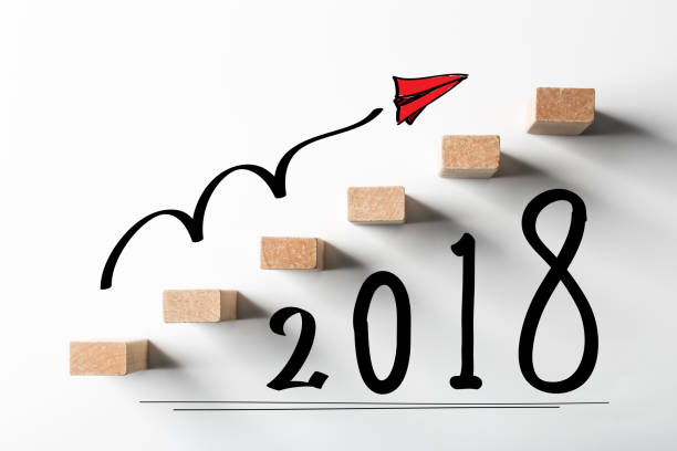 Year 2018 Ahead stock photo