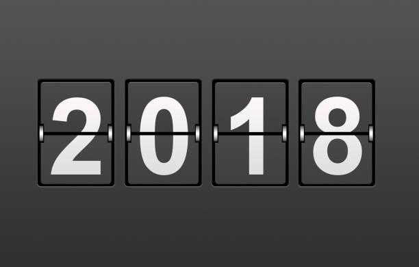 Year 2018 Flip Countdown stock photo