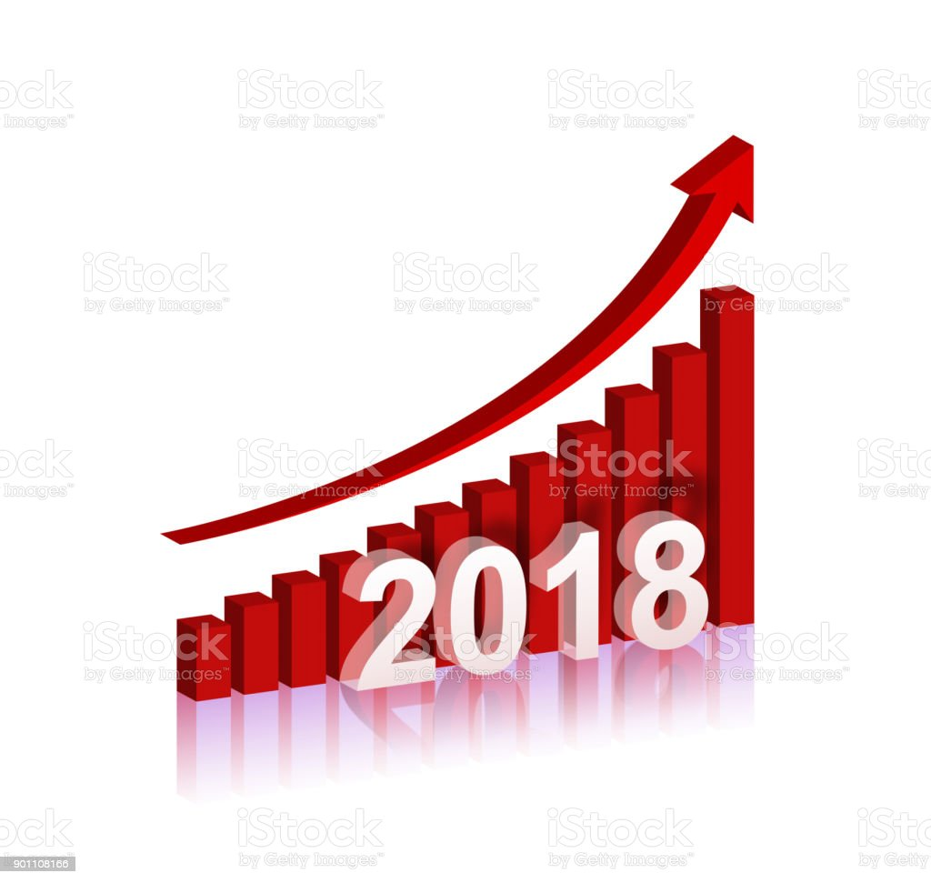 Year 2018 growth chart isolated on white background stock photo year 2018 growth chart isolated on white background royalty free stock photo nvjuhfo Gallery