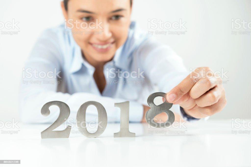 Year 2018 royalty-free stock photo