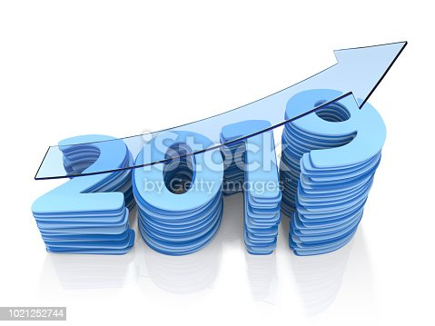 istock Year 2019 Growth Bar Chat. 1021252744