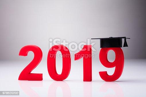 istock Year 2019 With Graduation Hat 978520202