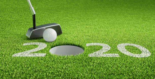Year 2020 Golf Theme stock photo