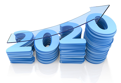 istock Year 2020 Growth Bar Chat. 1168423544