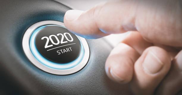 jahr 2020 start, two thousand and twenty concept. - anfang stock-fotos und bilder