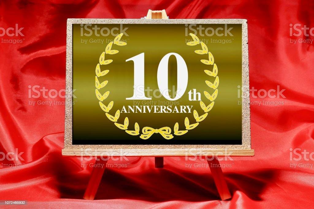 10 year anniversary stock photo