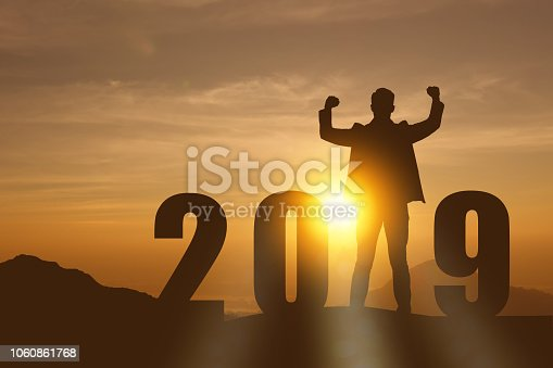 1042088340 istock photo 2019 year artificial intelligence or ai futuristic concept, Silhouette  assistant robot, industry 4.0 trend of automation robot in 2019 future 1060861768