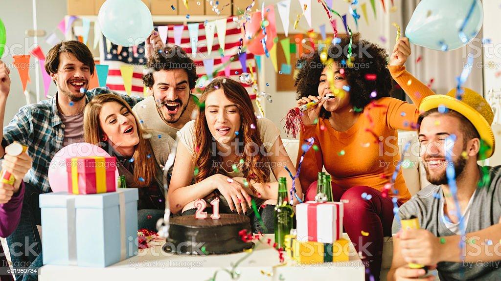 21 year Birthday Party stock photo