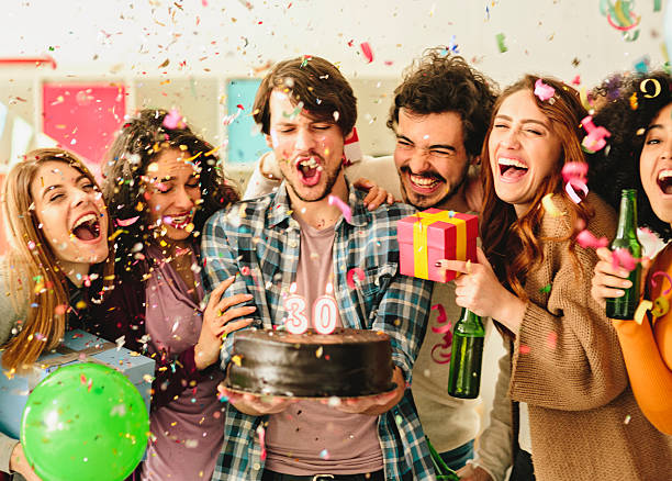 30 year Birthday Party stock photo