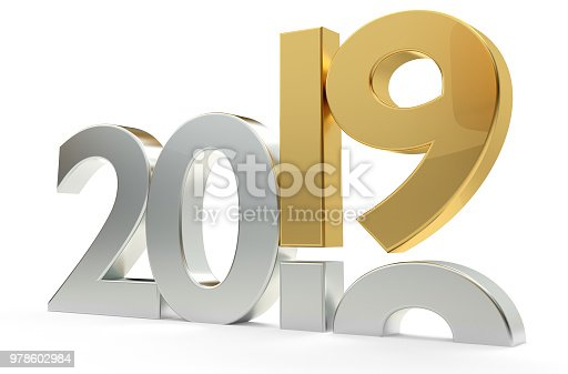 istock 2019 year bold 3d rendering 978602984