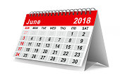 istock 2018 year calendar. June. Isolated 3D illustration 817545130
