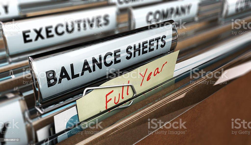 Year End Balance Sheet royalty-free stock photo