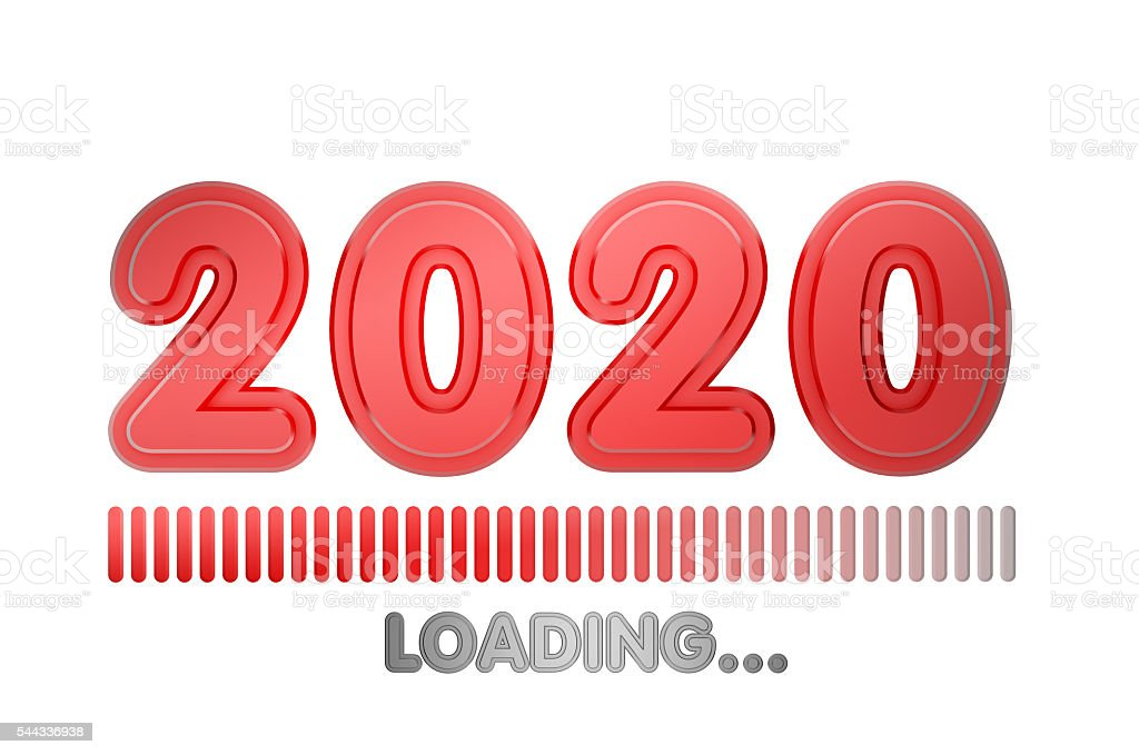 2020 year loading stock photo