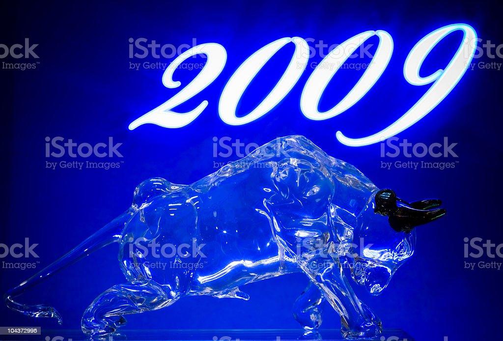Year of bull 2009 royalty-free stock photo