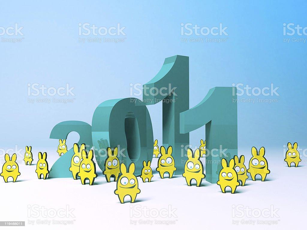 Year of rabbit 2011  2011 Stock Photo