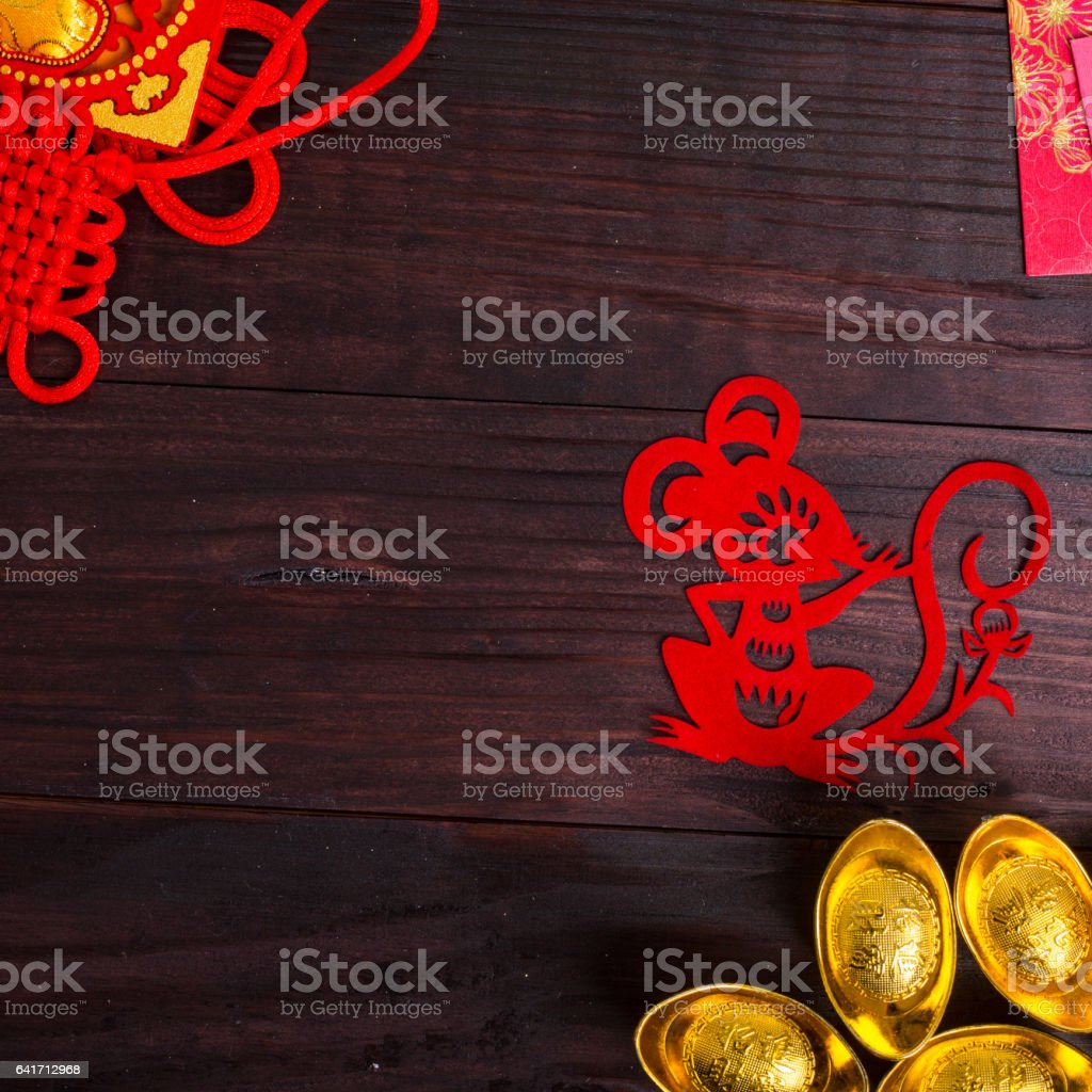 Year of Rat in Chinese Zodiac stock photo