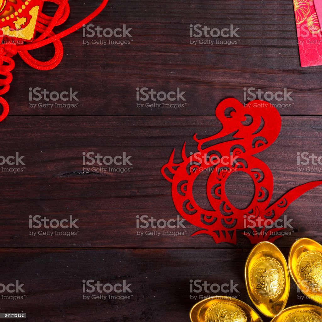 Year of Snake in Chinese Zodiac stock photo