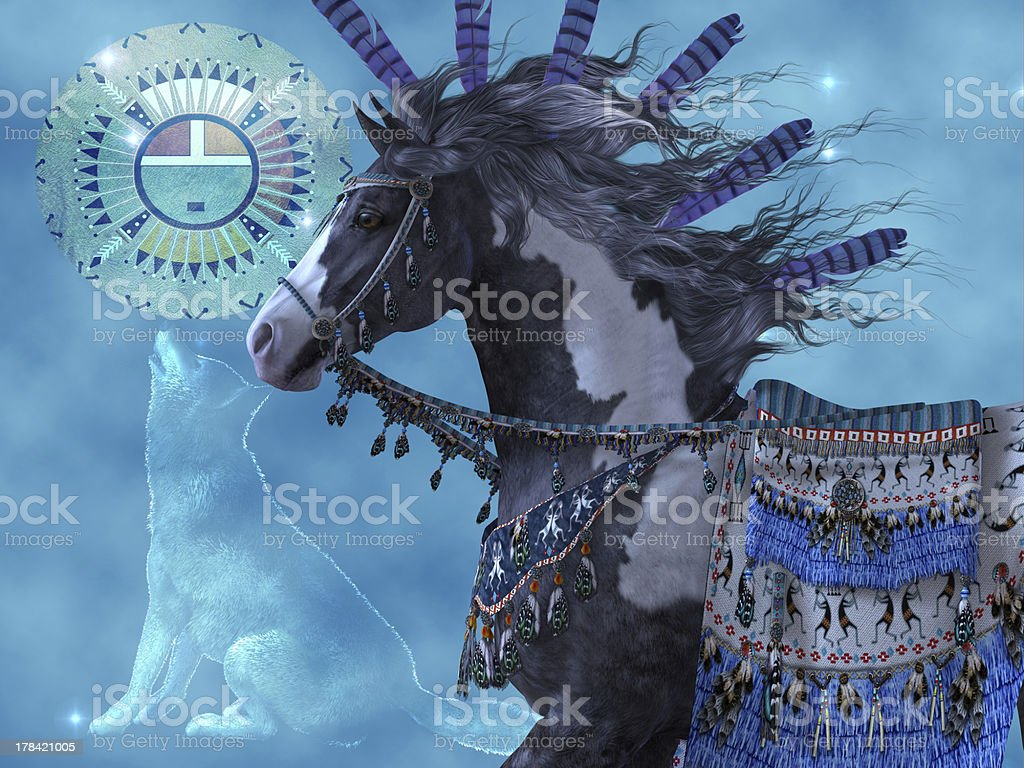 Year Of The Wolf Horse Stock Photo Download Image Now Istock