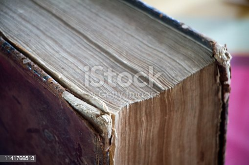 istock 400 year old antique book. Has that beautiful patina that only centuries can create. 1141766513