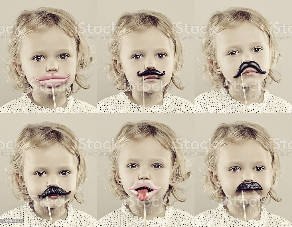 4 Year Old Girl Composite royalty-free stock photo