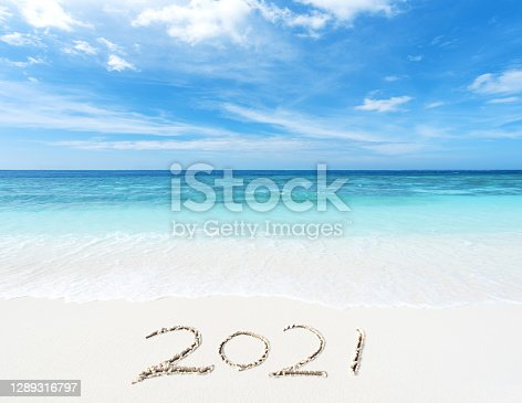 istock 2021 year on the sea shore 1289316797