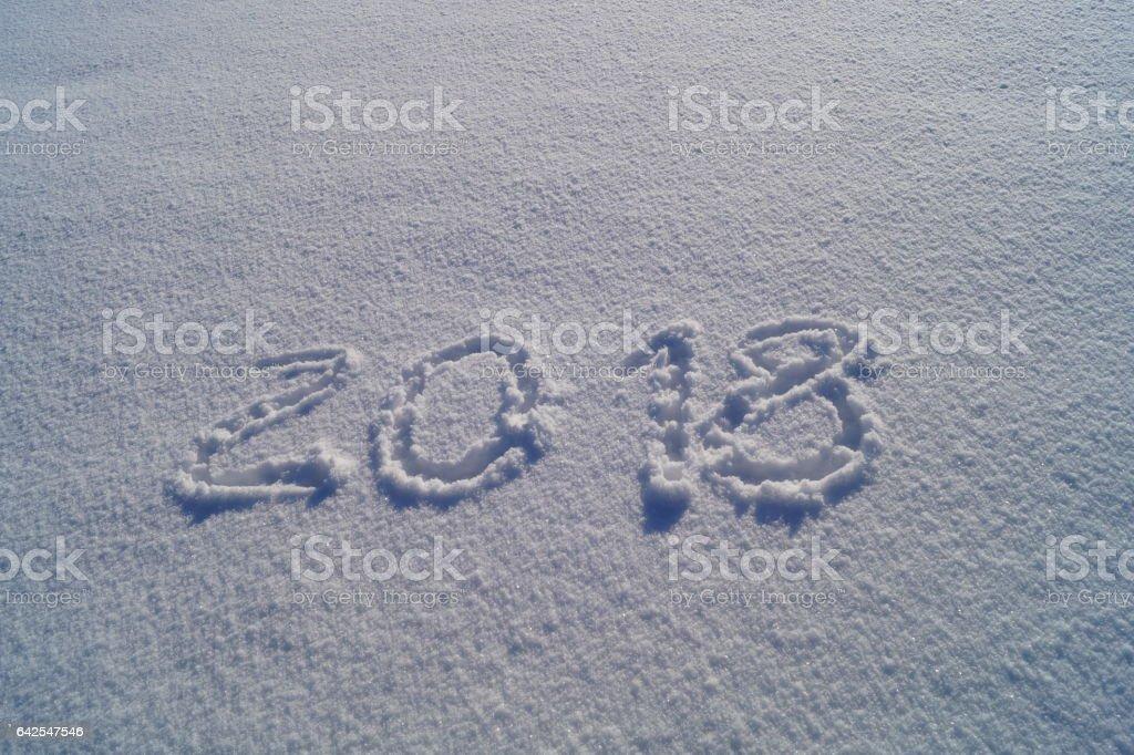2018 year stock photo