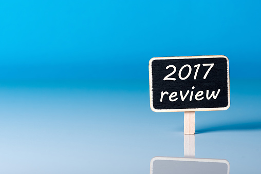 897644798 istock photo 2017 year review on blue background. Results of the Year 905840748