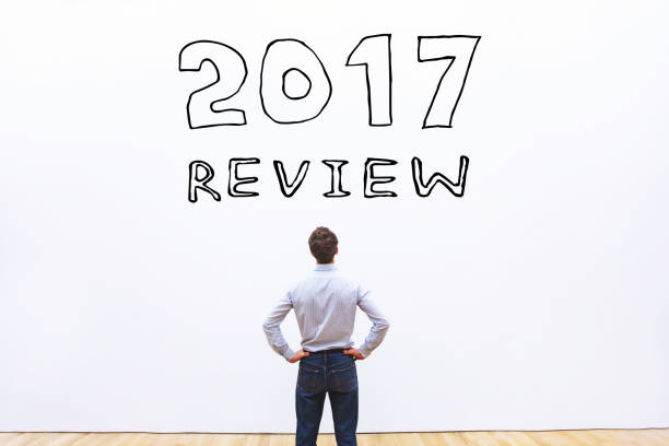 2017 year review 2017 year review concept 2017 stock pictures, royalty-free photos & images