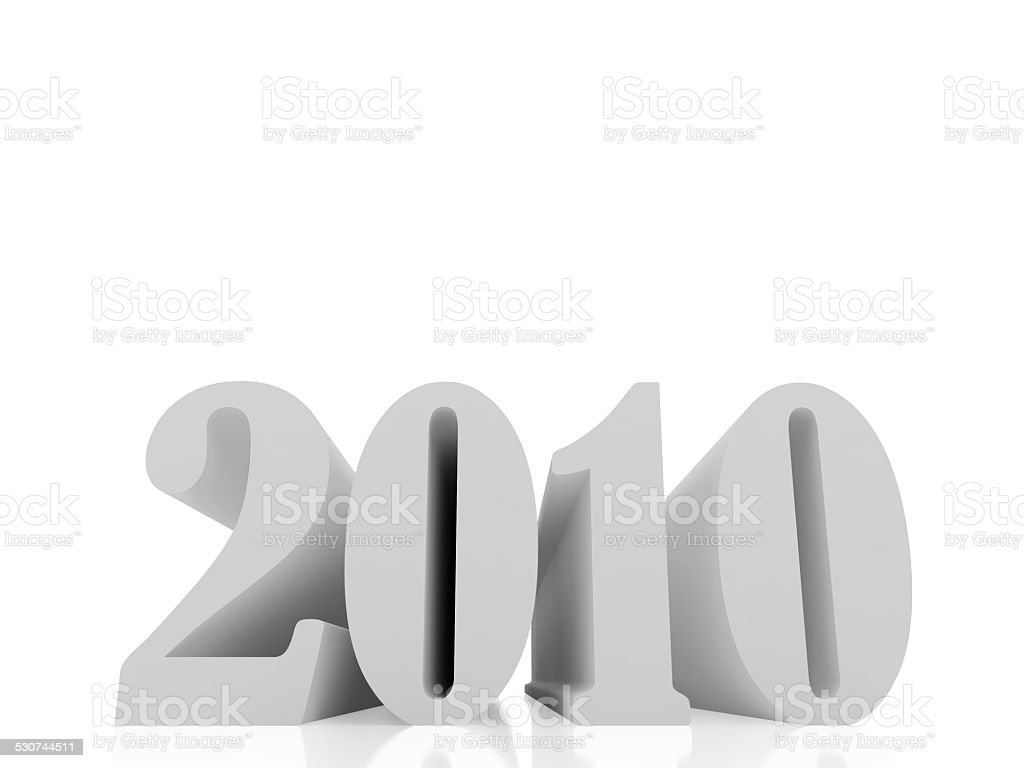 2010 year two stock photo