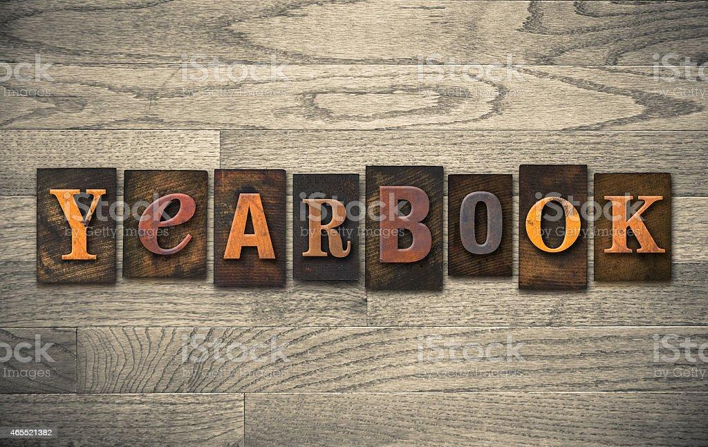 Album de fin d'année en bois de la typographie Concept - Photo