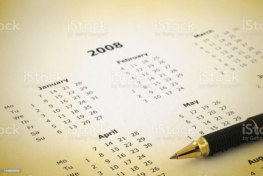 yearly calendar stock photo