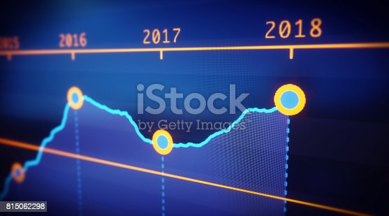 istock Yearly Graph Report 815062298
