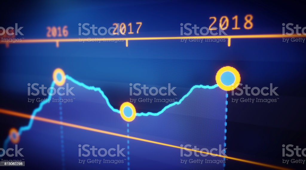 Yearly Graph Report stock photo